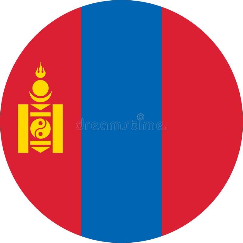 Vektor eps för Mongoliet flaggaAsien illustration royaltyfri illustrationer