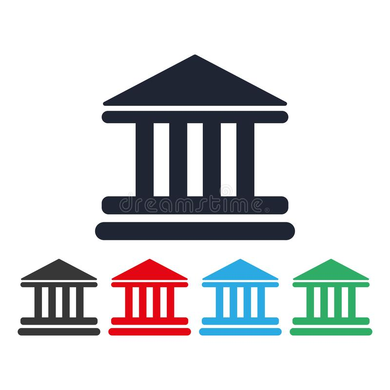 Vektor eps10 för symbol för bankbyggnad ocks? vektor f?r coreldrawillustration symbol för domstolbyggnadsvektor illustration för  stock illustrationer