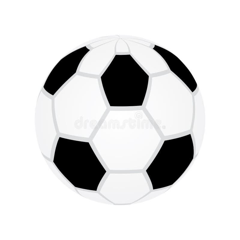 Vektor eps10 f?r fotbollboll Vektor eps10 f?r boll f?r fotboll f?r fotbolllek royaltyfri illustrationer