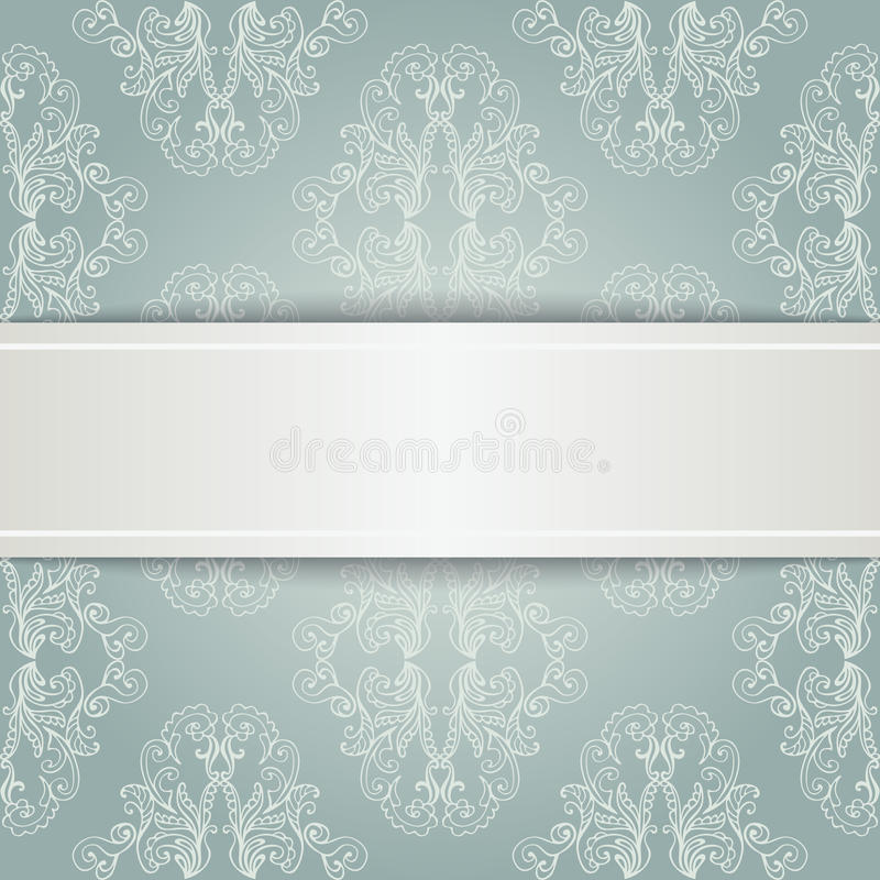 Vektor ESP10 Blom- lyxig dekorativ modellmall för design royaltyfri illustrationer
