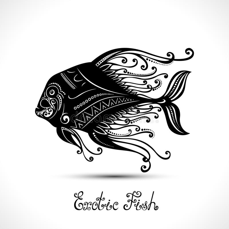 Vektor-exotische Fische Kopiertes Meer Logo Collection stock abbildung