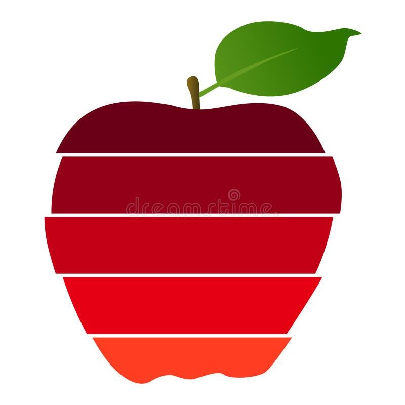 vektor för äpplebakgrundsfjäder vektor illustrationer