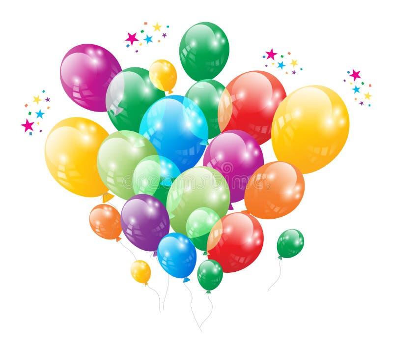 Vektor för årsdag för Ballon för födelsedagparti royaltyfri bild
