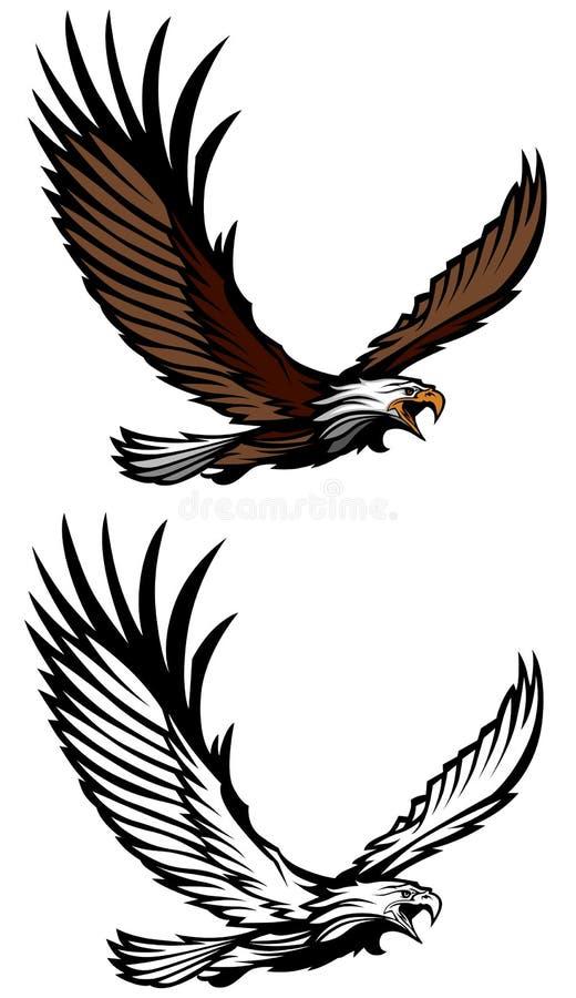 vektor för örnflyglogo vektor illustrationer