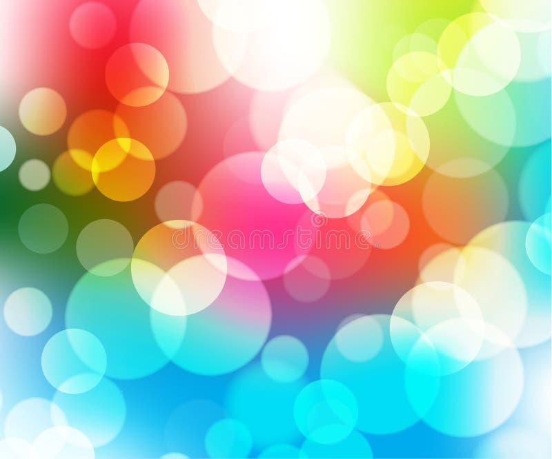 vektor för 2 abstrakt bakgrundscirklar stock illustrationer