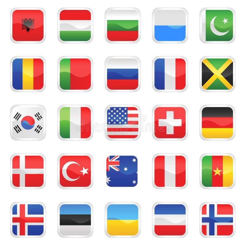 vektor för 2 flaggor vektor illustrationer