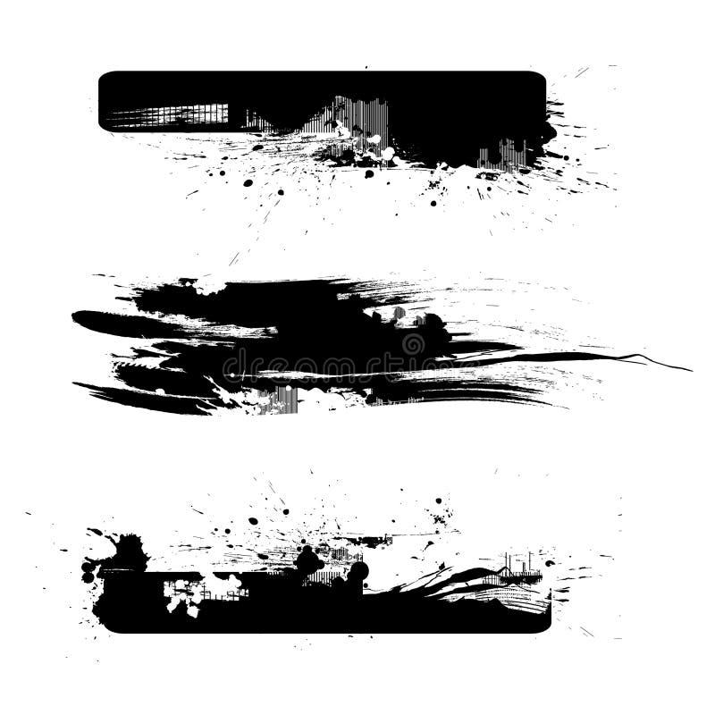 vektor för 3 borstar royaltyfri illustrationer