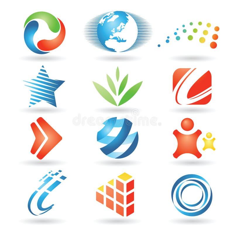 vektor för 5 designelement stock illustrationer
