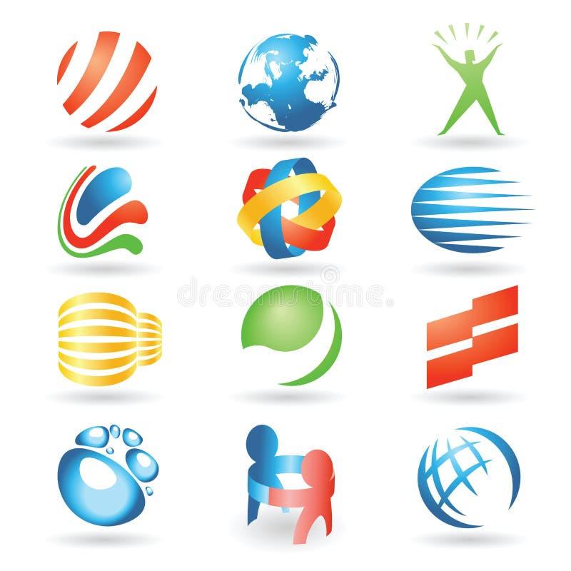 vektor för 7 designelement royaltyfri illustrationer
