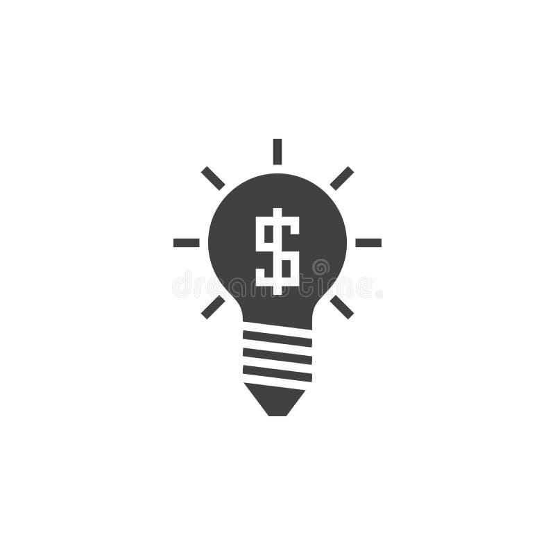 Vektor för affärsidésymbol, fast logo för kula, isolerad pictogram royaltyfri illustrationer