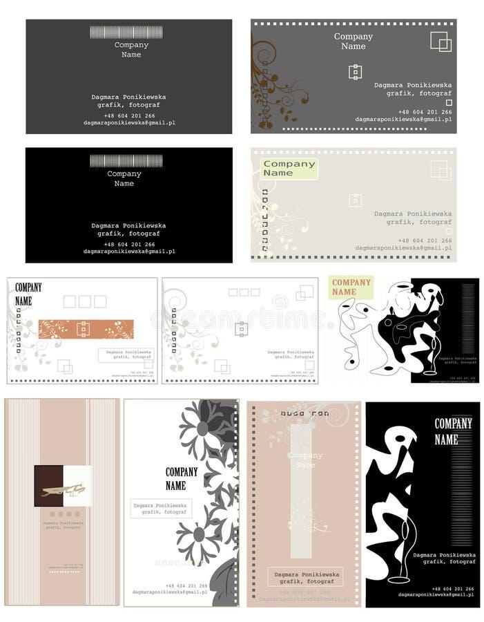 vektor för affärskortdesign stock illustrationer