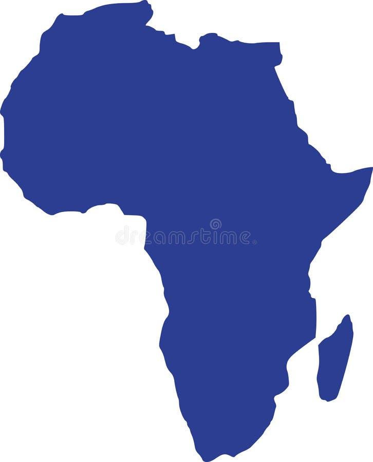 Vektor för Afrika översiktsvektor stock illustrationer