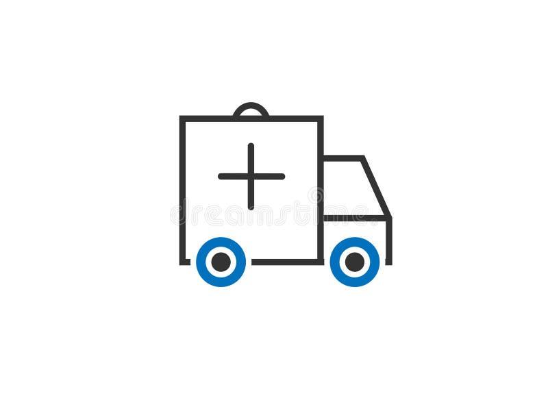 Vektor för ambulans-/bilrengöringsduksymbol stock illustrationer