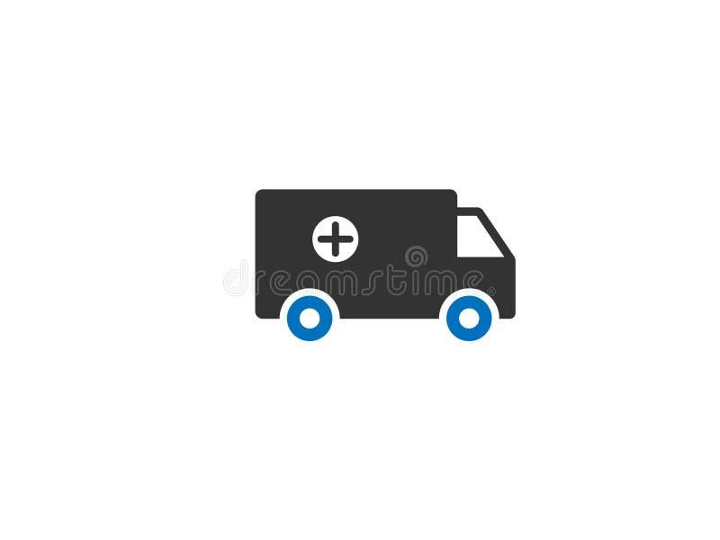 Vektor för ambulans-/bilrengöringsduksymbol royaltyfri illustrationer