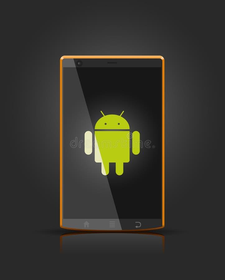 vektor för androidapparatmobil stock illustrationer