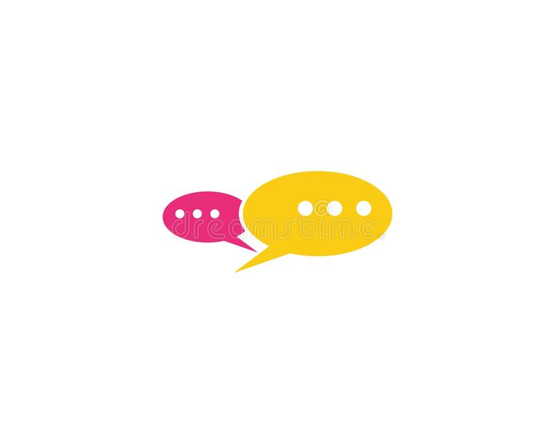 Vektor för anförandebubblasymbol royaltyfri illustrationer