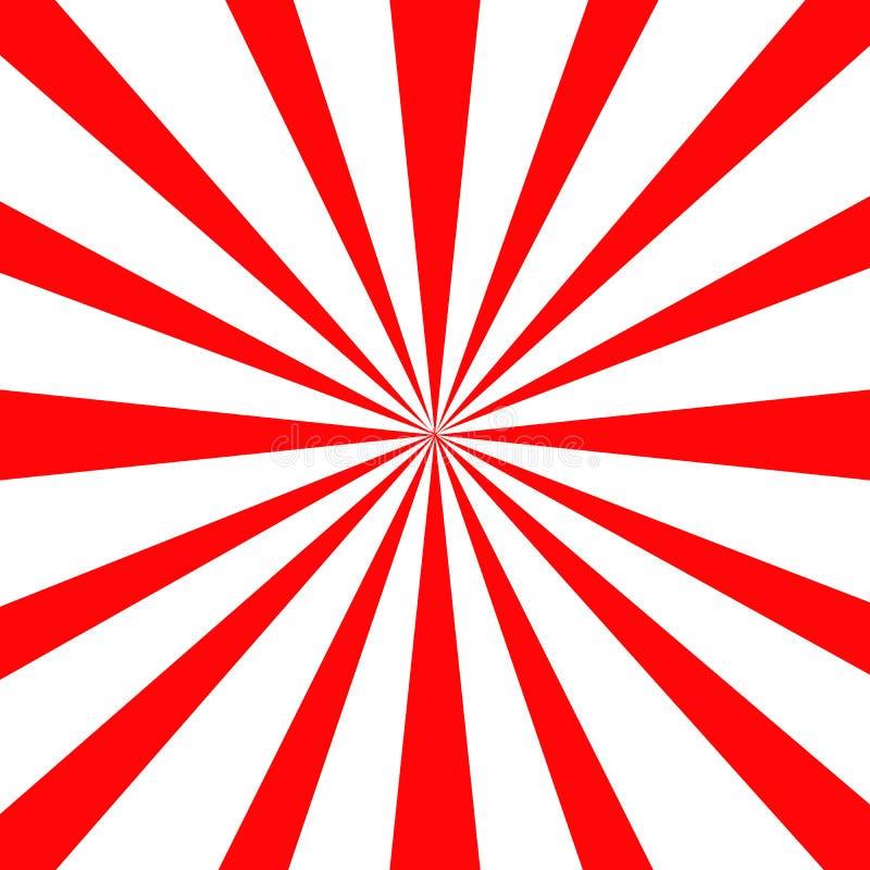 Vektor för bakgrund för Japan röd soltapet vektor illustrationer