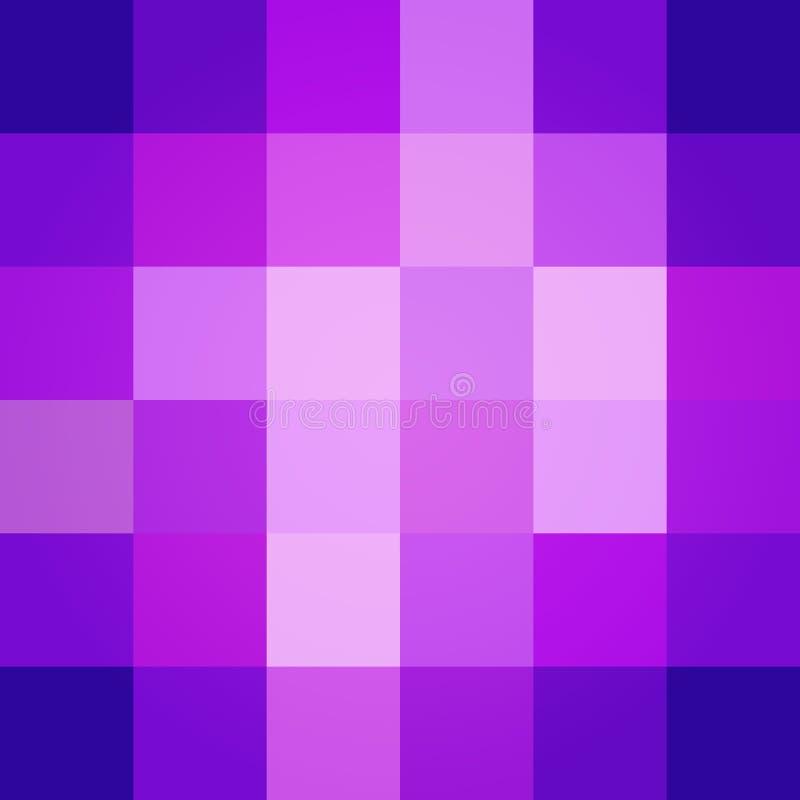 Vektor för bakgrund för purpurfärgade lutningfyrkanter abstrakt stock illustrationer