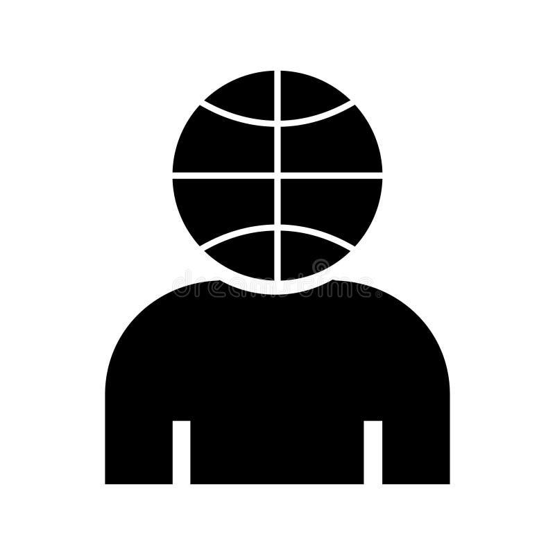 Vektor för bakgrund för sinnad symbol för korgboll vit vektor illustrationer