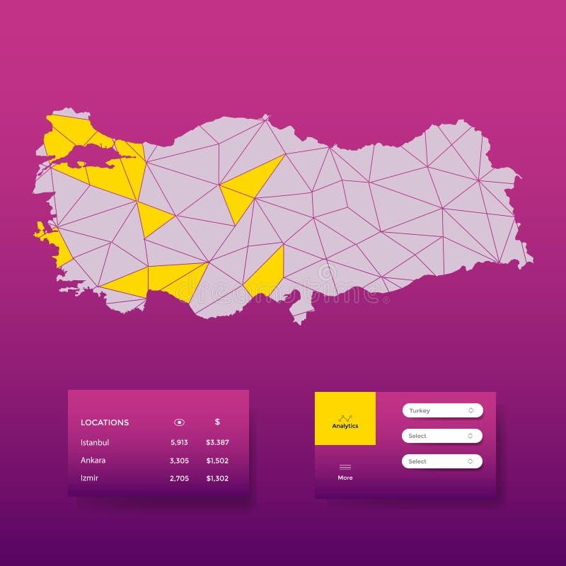 vektor för bakgrund för 2018 trendfärger abstrakt Gray Turkey översiktsabstrakt begrepp Bakgrund för modern design för rapport- o royaltyfri illustrationer