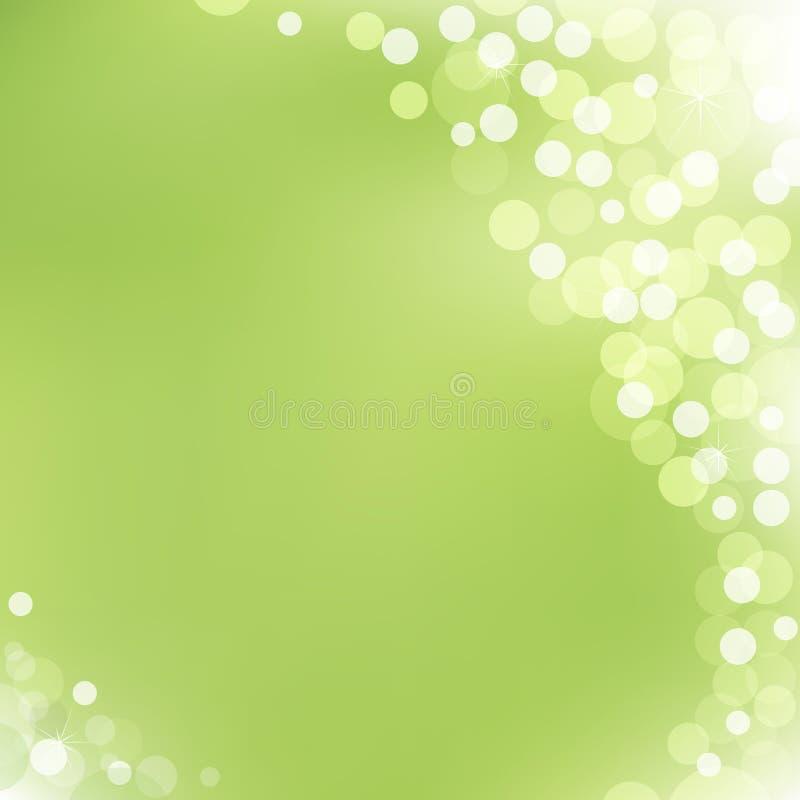 vektor för bakgrundsbokehgreen royaltyfri illustrationer