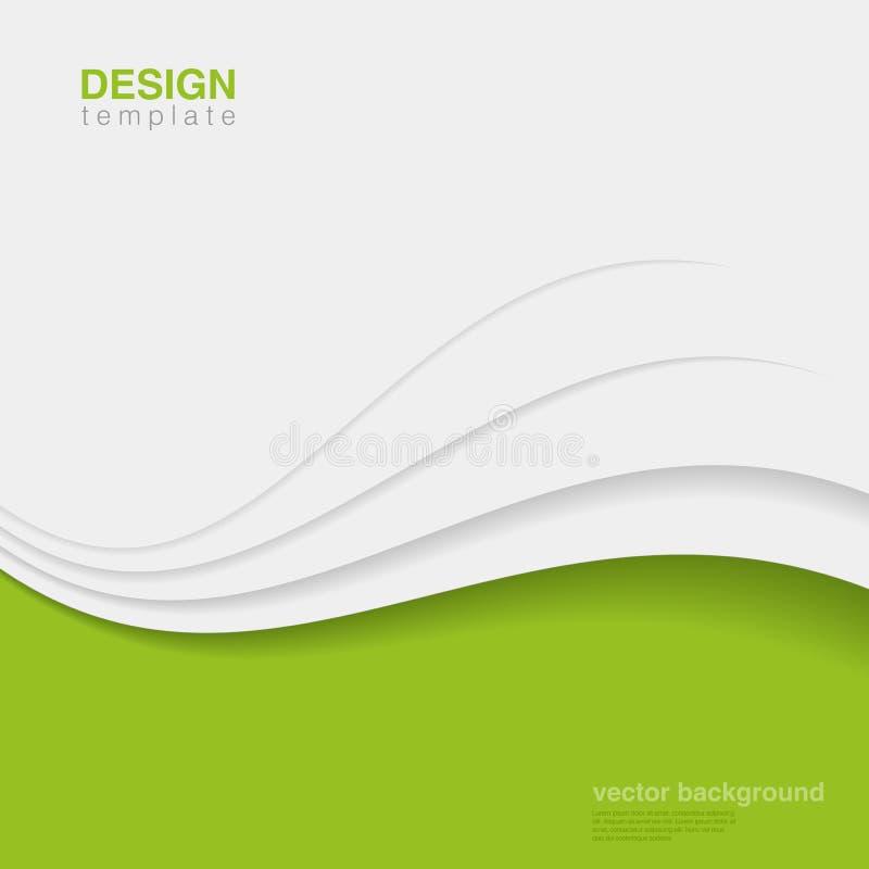 Vektor för bakgrundsEco abstrakt begrepp. Idérik ekologi D royaltyfri illustrationer