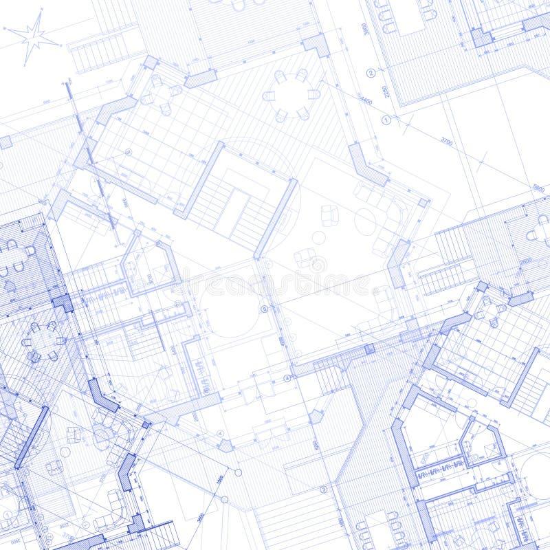 vektor för bakgrundshusplan royaltyfri illustrationer