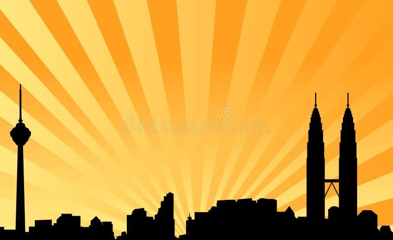 vektor för bakgrundsKuala Lumpur horisont royaltyfri illustrationer