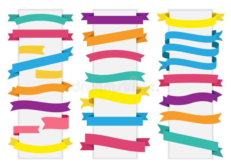 Vektor för band för etikettetikettsbaner vektor illustrationer