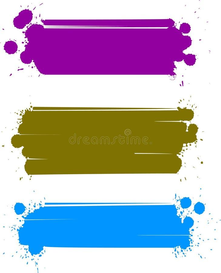 vektor för banerfärgset stock illustrationer