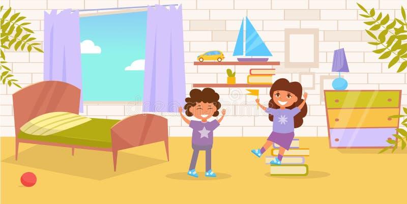 Vektor för barnrum cartoon Isolerad konst på vit bakgrund vektor illustrationer