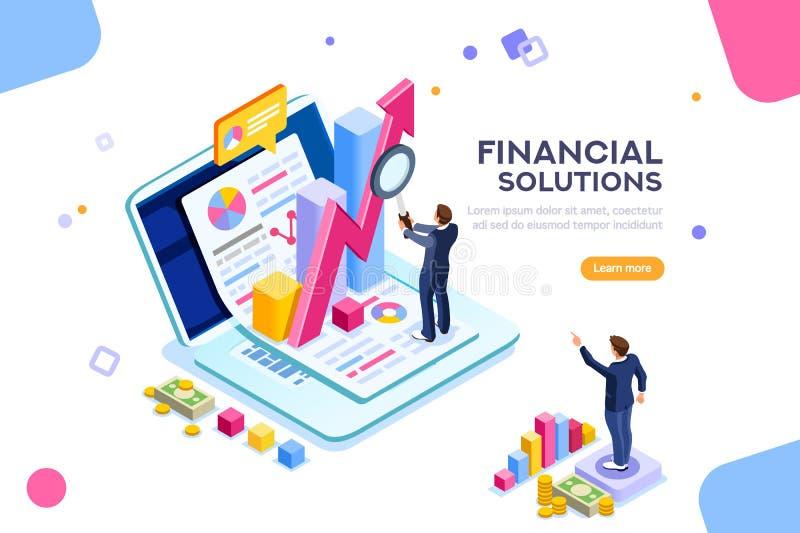 Vektor för begrepp för teknik för finansiell ledning royaltyfri illustrationer