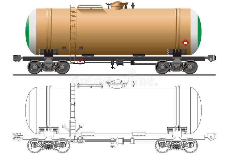 vektor för biloljetankfartyg stock illustrationer