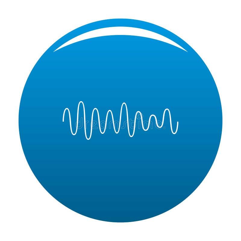 Vektor för blått för symbol för utjämnarevågljud royaltyfri illustrationer
