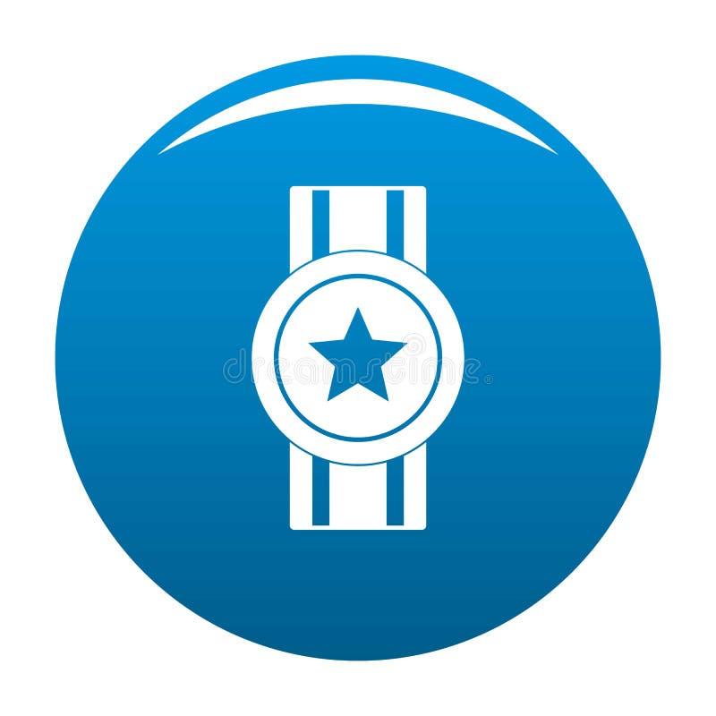 Vektor för blått för utmärkelsebandsymbol royaltyfri illustrationer