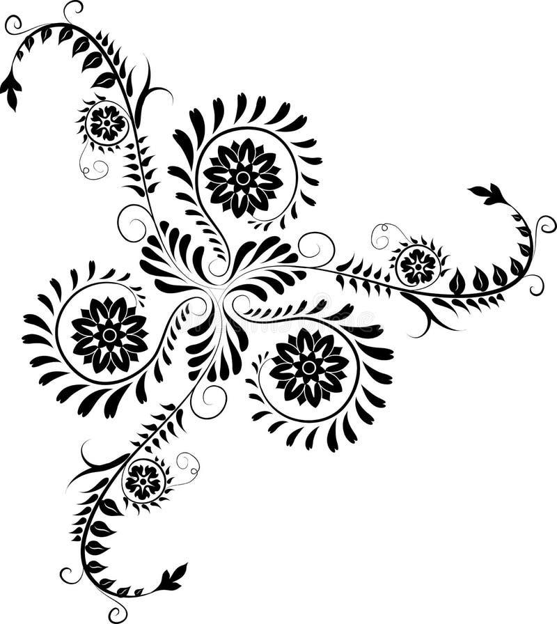 vektor för blomma för hörndesignelement royaltyfri illustrationer