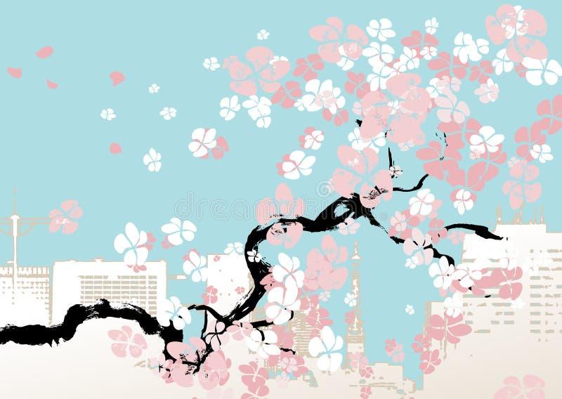 vektor för blomningCherryillustration stock illustrationer