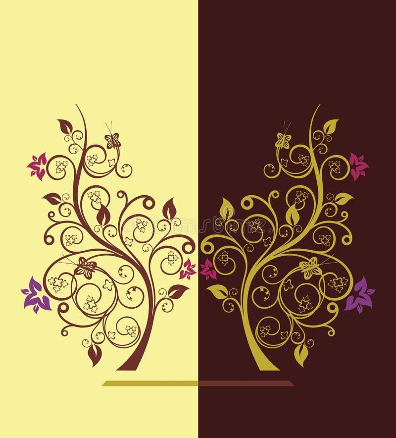 vektor för blomningillustrationtree vektor illustrationer