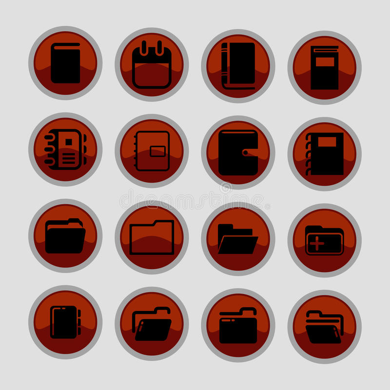 vektor för brevpapper för symbolsillustrationkontor set arkivbilder