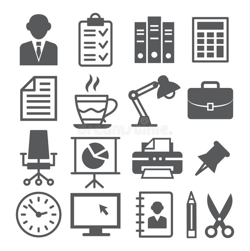 vektor för brevpapper för symbolsillustrationkontor set stock illustrationer
