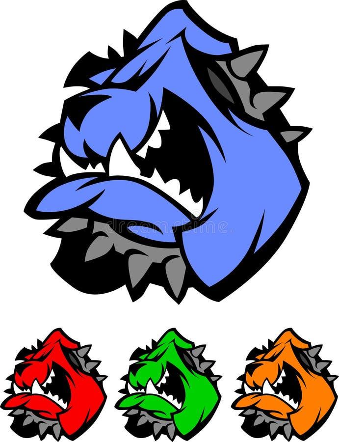 vektor för bulldogglogomaskot vektor illustrationer