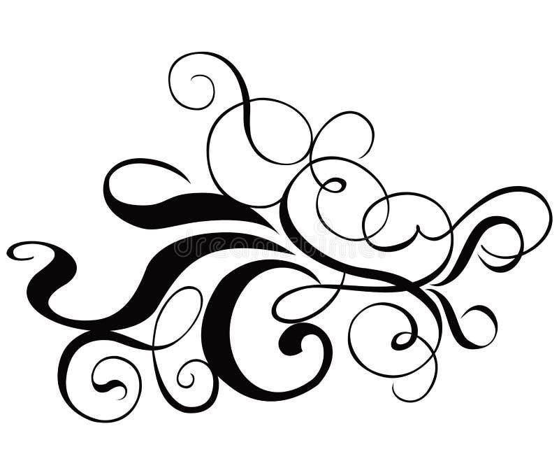 vektor för cartouchedekorscroll royaltyfri illustrationer