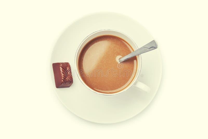 vektor för chokladkaffekopp royaltyfria foton