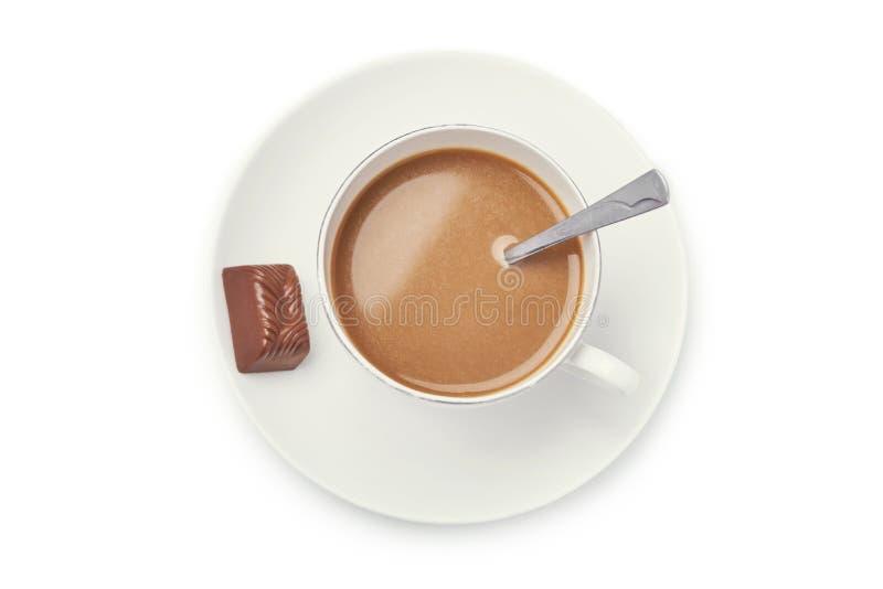 vektor för chokladkaffekopp arkivfoton