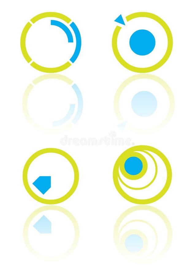 vektor för cirkelelementlogo stock illustrationer