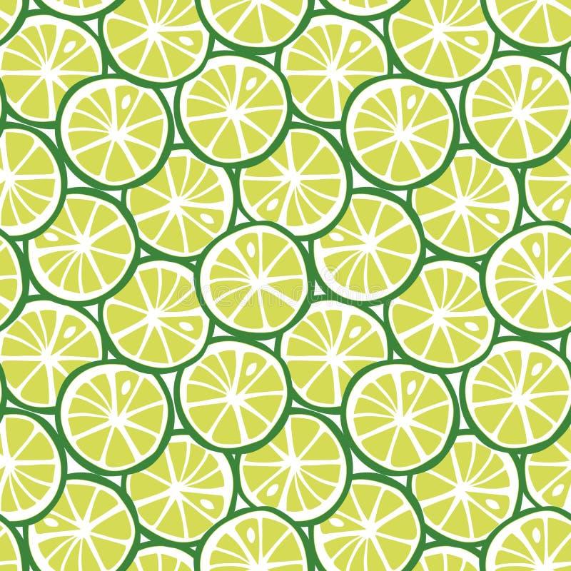 Vektor för citrus tropisk modell för sommar för fruktgräsplanlimefrukt sömlös stock illustrationer