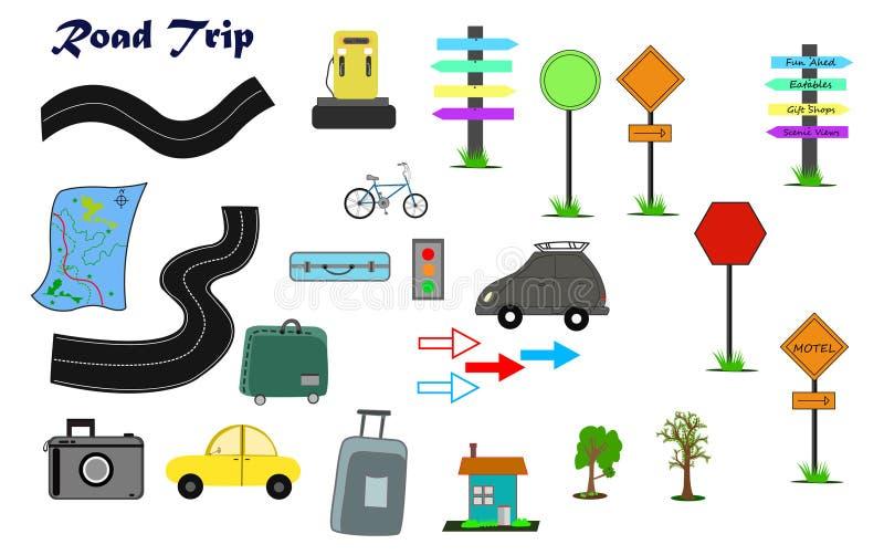 Vektor för clipart för vägtur fotografering för bildbyråer