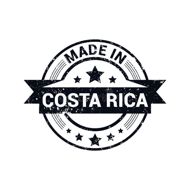 Vektor för Costa Rica stämpeldesign royaltyfri illustrationer