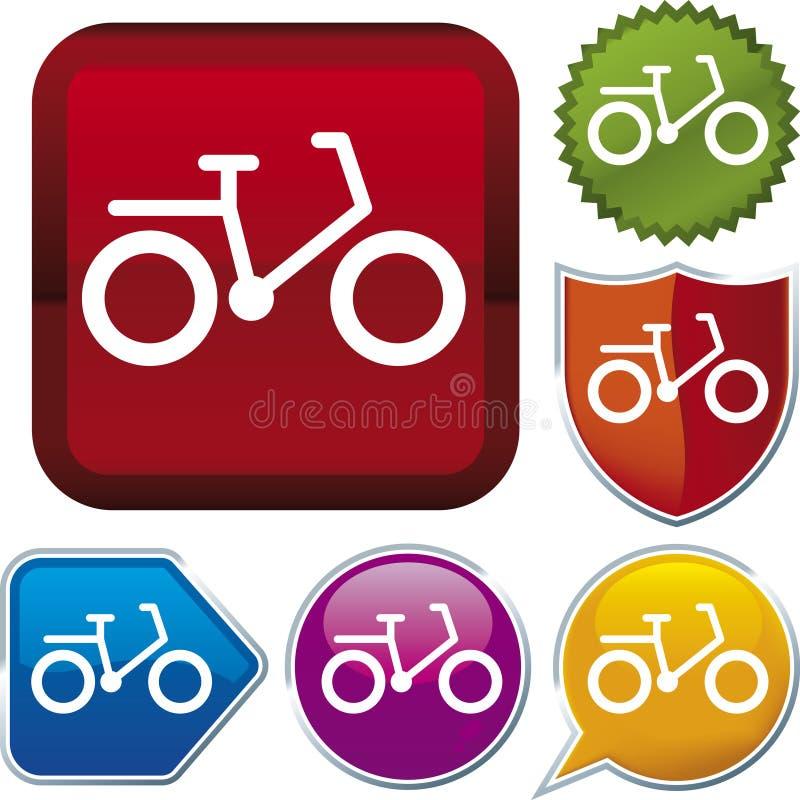 vektor för cykelsymbolsserie vektor illustrationer