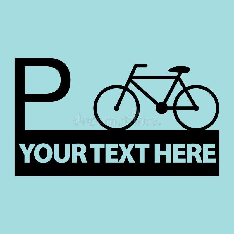 Vektor för cykelsymbolstecken stock illustrationer